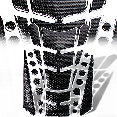Cb750 Starter Cover (3D 13-Piece Customize Fuel / Gas Tank Pad Protector Decal / Sticker Set Black + Chrome)