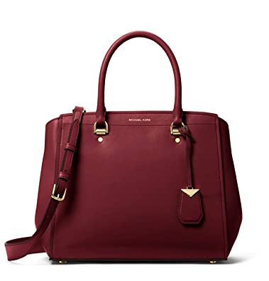 9c2200a4a28f9 Image Unavailable. Image not available for. Color: MICHAEL MICHAEL KORS  Benning Large Leather Satchel ...
