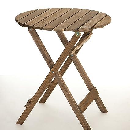 YXX- Pequeña Mesa y sillas Plegables Redondas Plegables para ...