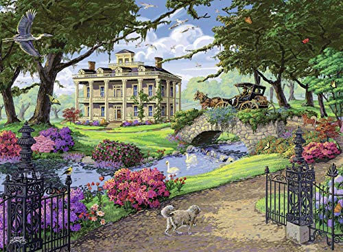 (Ravensburger Visiting The Mansion 500 Piece Jigsaw Puzzle for Adults - Every Piece is Unique, Softclick Technology Means Pieces Fit Together Perfectly)