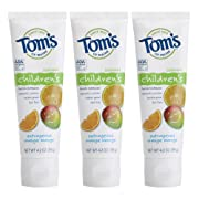 Tom's of Maine Anticavity Fluoride Children's Toothpaste, Outrageous Orange-Mango, 4.2 Ounce, 3 Count