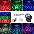 Sound Activated Party Lights with Remote Control,Magic Crystal Disco Ball Lamps RGB Disco Lights, 7 Colors Strobe Lights Dj Stage Effect Lights for Festival Home Dance Birthday Wedding Bar Club Pub by iToncs