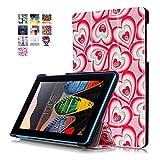 Lenovo Tab3 7 Essential Funda de Cuero,Ultra Slim Funda Case de Cuero para el Tablet Lenovo Tab3 7 Essential Tab 3-710F Smart Cover Case Carcasa Piel con Stand Función