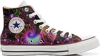 Converse Customized Adulte - Chaussures Coutume (Produit Artisanal) Disco Fantasy