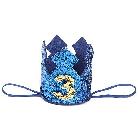 Cumpleaños Corona Crown Hat Headband Glitter Headwear Banda ...
