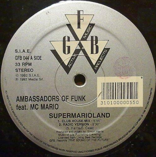 Super Mario Land (4 versions, 1992, feat. M.C. Mario) / Vinyl Maxi Single [Vinyl 12'']