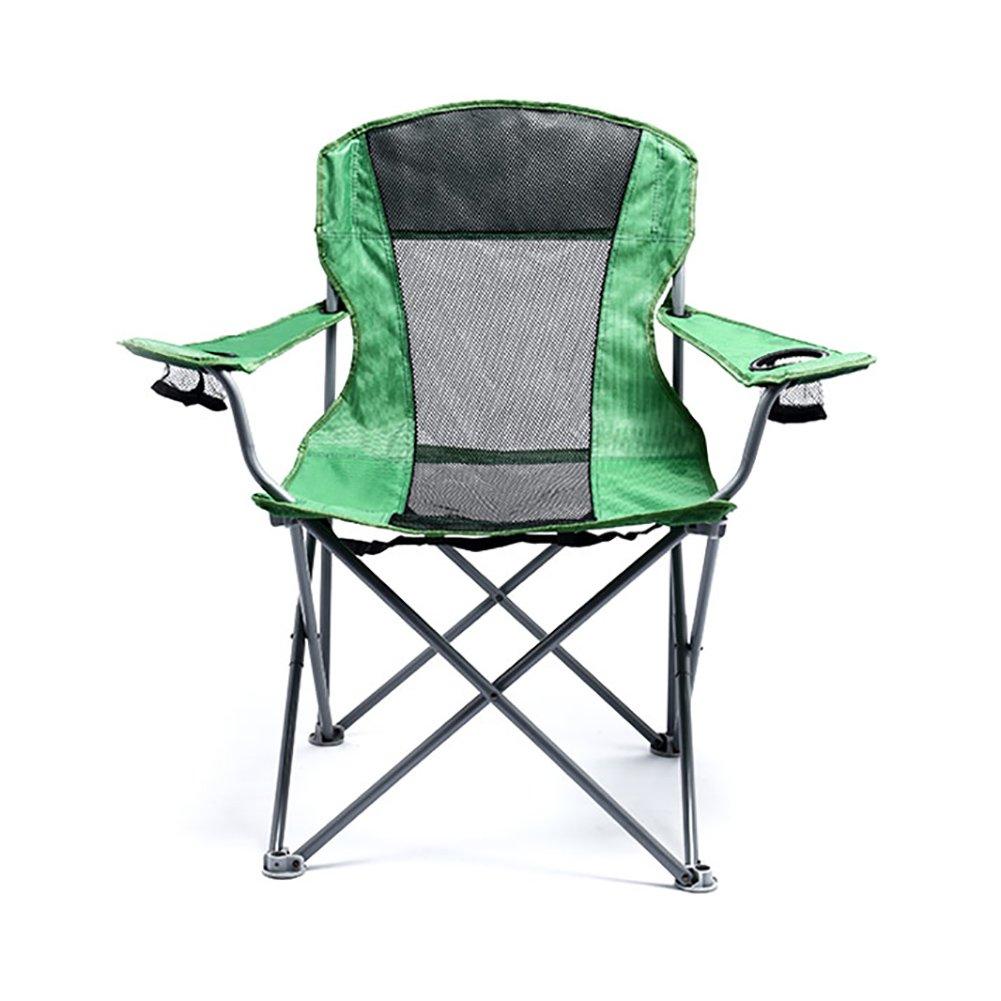 Camping-Stühle WSSF- Tragbarer faltender kampierender Stuhl-Stahlrohr-Bequemer Breathable Fischen-Stuhl-Garten im Freien, der Sommer-Sitz-Schemel - tragende 100kg wandert
