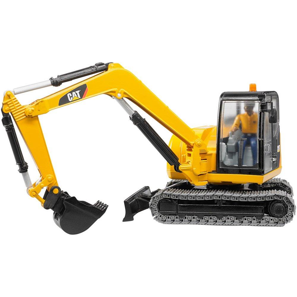 Bruder 02466/ /Cat Mini Excavadora de Juguete con Trabajador