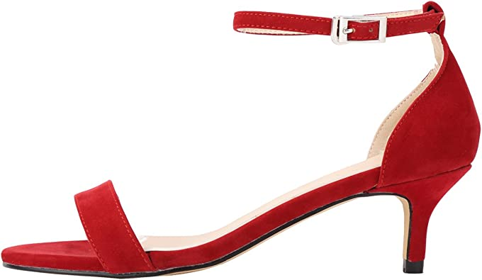 Mid Heel Red Shoes