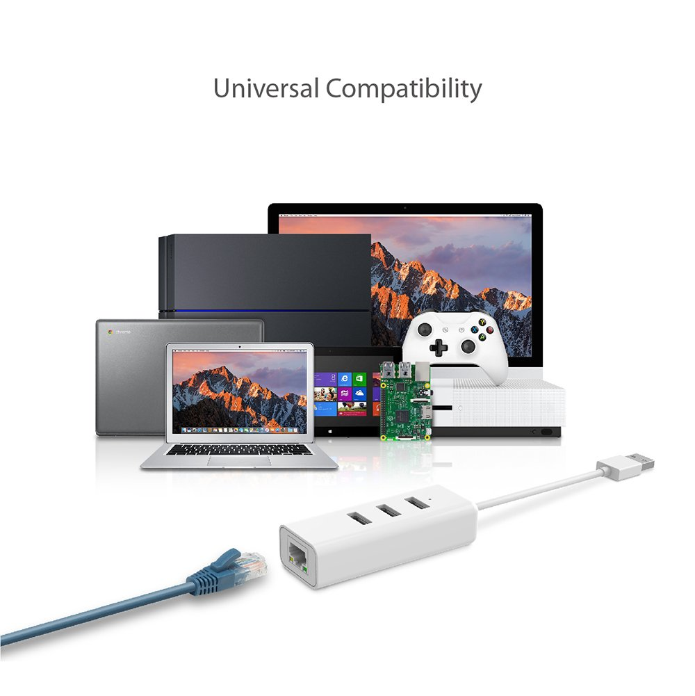 Mac Compatible with Windows TP-Link Foldable USB 3.0 to 10//100//1000 Gigabit Ethernet Network Adapter Chrome /& Linux OS Plug /& Play UE300