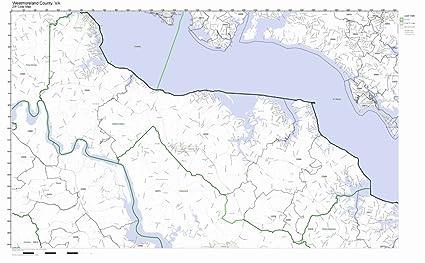 Amazon com: Westmoreland County, Virginia VA ZIP Code Map