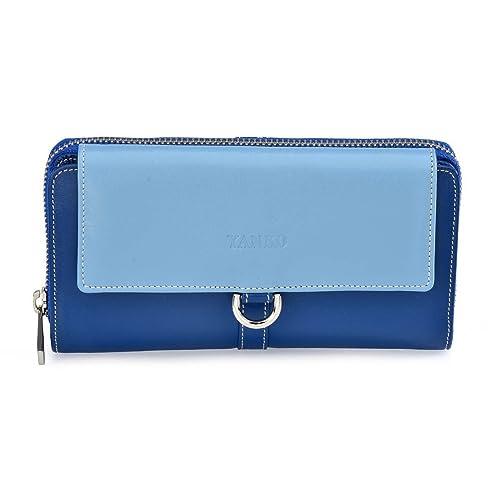Yanko Monedero con billetero para mujer 2041 (Color: Azul ...