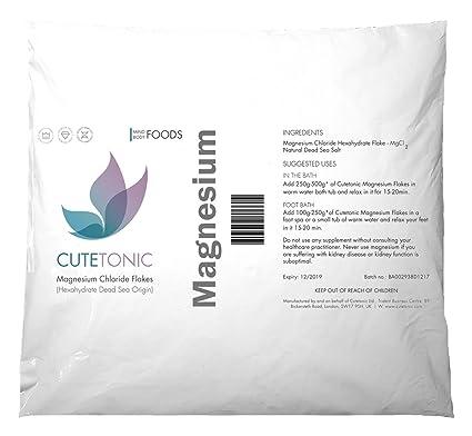 Cutetonic Hojas de cloruro de magnesio (Magnesium Chloride Flakes) ultra puro, origen del