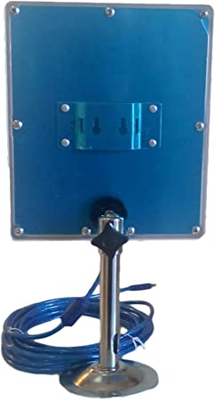 ANTENA WONECT EXTERIOR 5 METROS PANEL PLANAR 36DBI EXTERNA USB interno N4000 2000MW 2w 5 metros Auditoria. Fácil instalar. Compatible WiFislax, Beini, ...