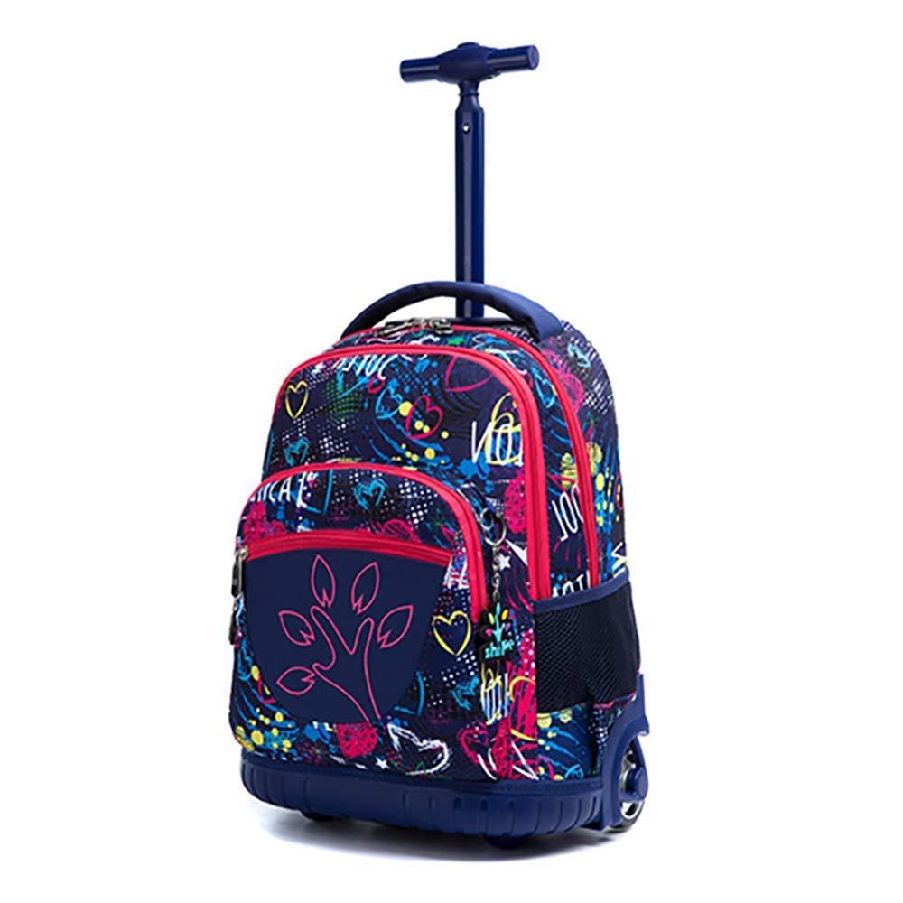 6 HCC& Grosse Kapazität Schulrucksäcke Mit Rädern Kinder Trolley Tasche Draussen Reisen Nylon Kinder Gepäck 8-16 Jahre Alt,6