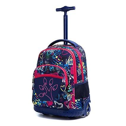 HCC& Gran Capacidad Mochilas Escolares con Ruedas Trolley para Niños Al Aire Libre De Viaje Nylon