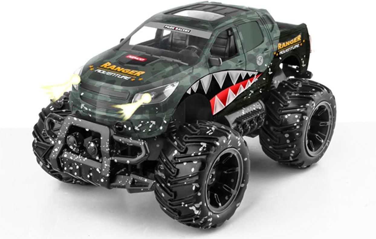 Ninco-NincoRacers Ranger Monster Truck teledirigido. Con luces. 2.4GHz negro. Medidas: 30 cm x 19 cm x 16 cm, color verde NH93120