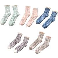 Generic 5 Pairs Womens Winter Thick Warm Sleep Floor Socks Soft Slipper Socks