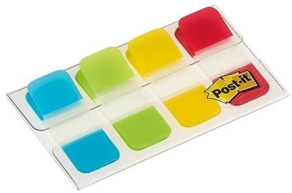 Post-it index rigido mini rojo,amarillo,lima, azul dispensador funda 4x10