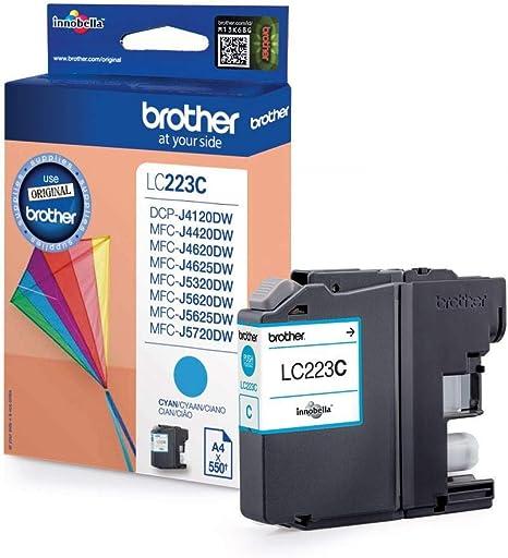 Brother LC223C - Cartucho de tinta cian (duración estimada: hasta ...