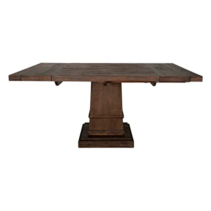 Exceptional Orient Express Furniture Hudson Square Extension Dining Table, Rustic Java