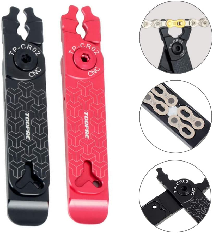 Sherine Bicycle Master Link Plier Bike Chain Missing Quick Connector Tire Valve Lever Buckle 5 in 1 Multifunction Tools Outdoor Supplies