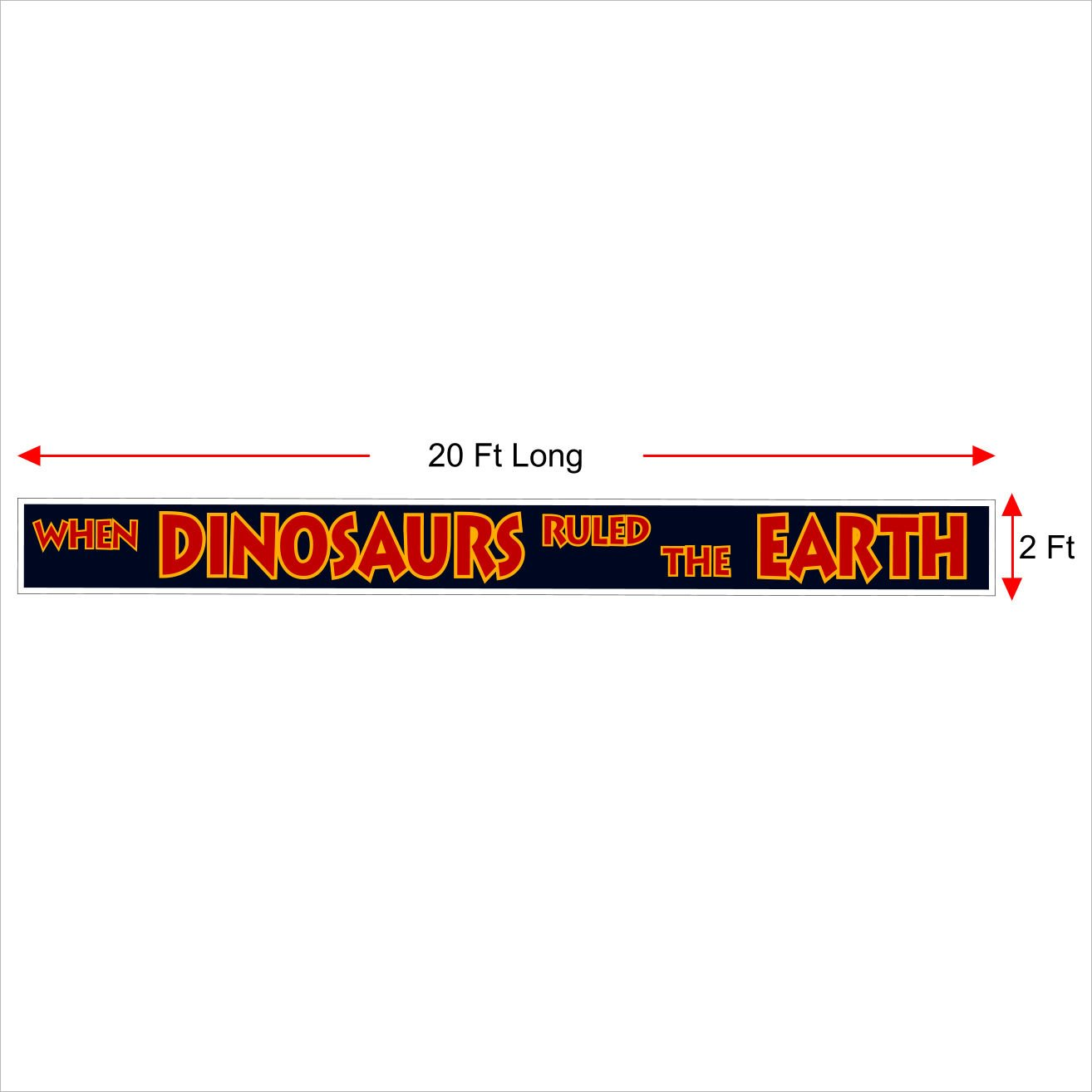 Jurassic Park Banner Sign Replica - Great for the Jurassic Park World Movie Fan That Loves Dinosaur Props -Toys, Games, Shirts. Outdoor Quality 20 Ft Long (2FT x 20FT)