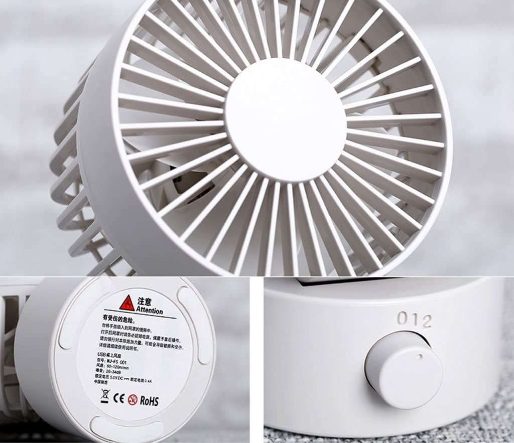 QARYYQ Ventola USB da Ufficio Ventola da Mini Ventilatore Desktop Desktop Fan (Color : White) White