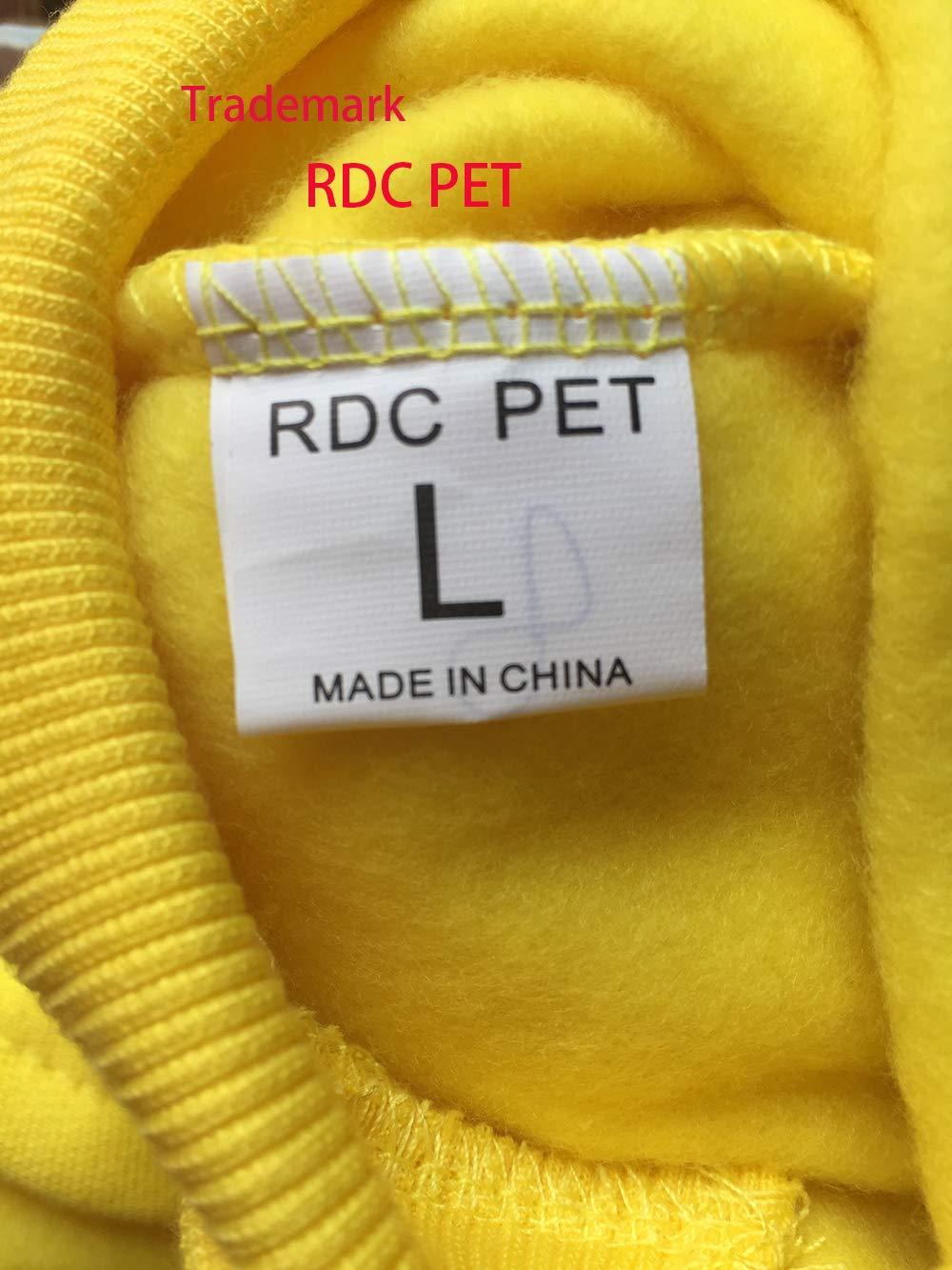 4XL, Green Adidog Dog Hoodies,Rdc Pet Clothes,Fleece Basic Hoodie Warm Sweater,4 Legs Cotton Jacket Sweat Shirt Coat for Small Dog Medium Dog Cat