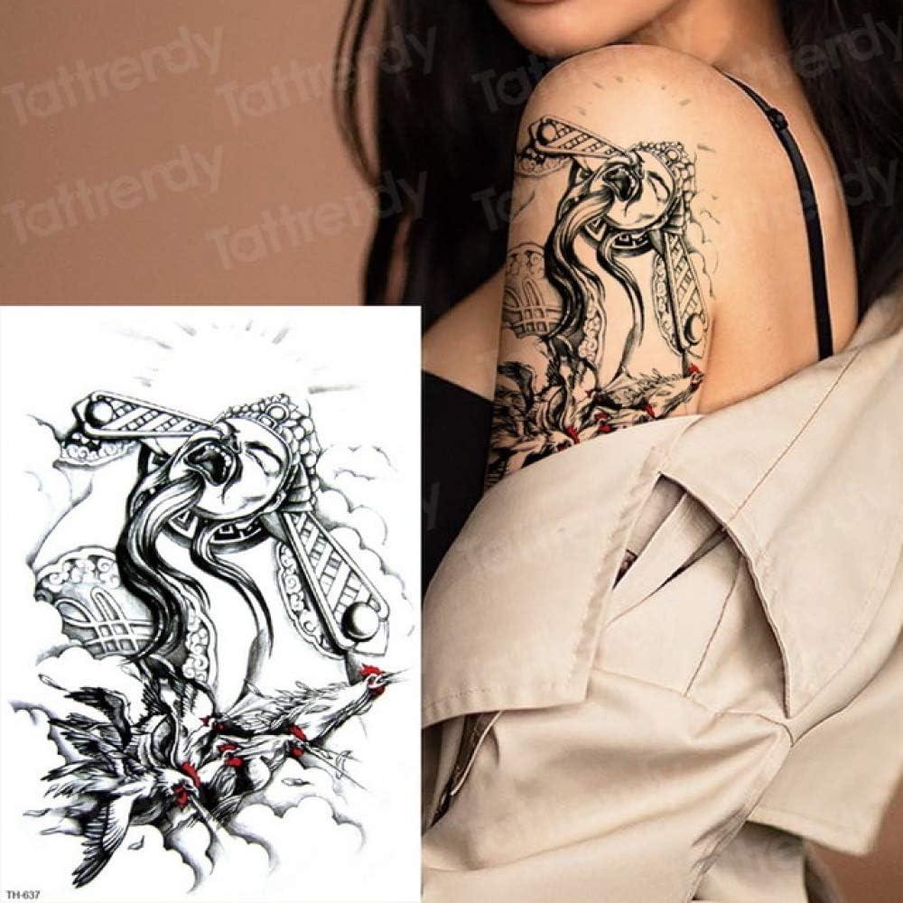 tzxdbh Tatuajes de Larga duración Animales Cabeza de león Tatuajes ...