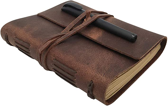 Leather Journal Lined Notebook