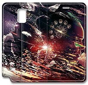 Abstract Artistic Psychedelic Leather Cover for Samsung Galaxy Note 4 by mcsharks