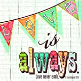 Love Always Never Ends Wood Look 20 Count 3-Ply Paper Luncheon Napkins Pack of 2
