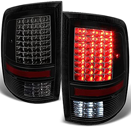 amazon com: for 2009-2018 dodge ram 1500 | 20 2500 | 3500 black smoked led tail  lights brake lamps left + right replacement pair: automotive