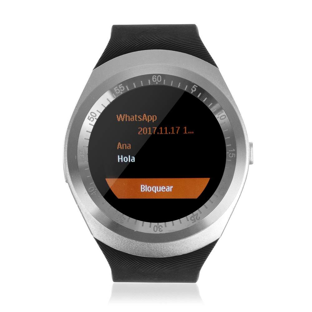 TEKKIWEAR. DMX064BKSLV. Smartwatch Y1 Plus con Asistente De Voz ...