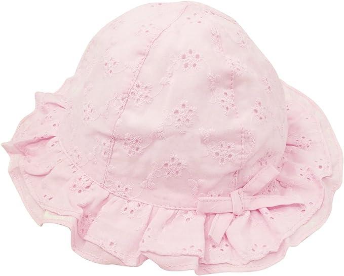 Baby Girls Princess Beige Lace Embroidery Bonnet Beanie Summer Sun Hat Cap LA