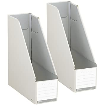 コクヨ ファイル ファイルボックス NEOS スタンドタイプ A4 2個セット オフホワイト フ-NEL450WX2