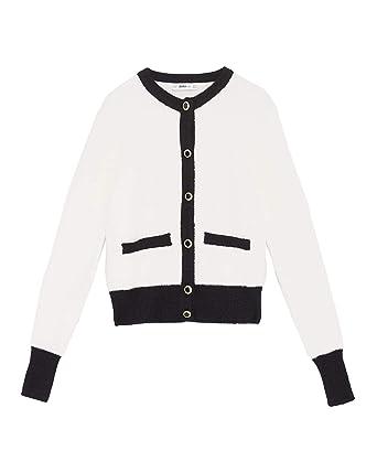 f7daee85 Zara Women's Soft-Touch Knit Cardigan 9598/150 Off-White: Amazon.co ...