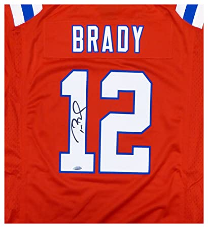 94e4d7cc8 New England Patriots Tom Brady Autographed Signed Red Nike Jersey Size L  TriStar Holo Stock