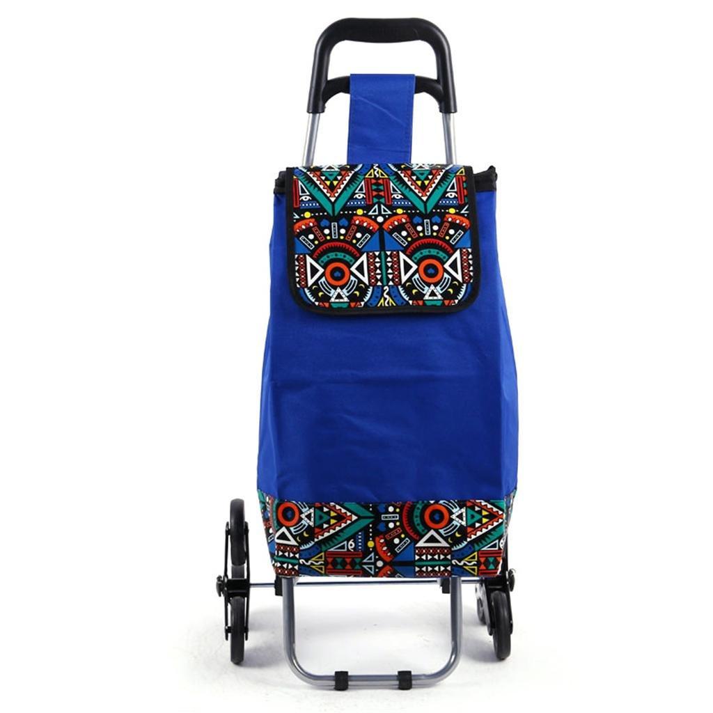 MOXIN Shopping cart - supermarket portable pull car home folding push cart , 35l