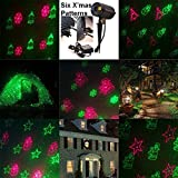 Indoor or Outdoor Waterproof Laser Garden Tree Lawn Spot Light Projector Show Christmas Theme X'mas Tree, Snowman, Bell, Snowflake, Santa Clause (with Remote Control)