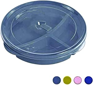 (Set of 3) Chef's 1st Choice Microwave Food Storage Tray Containers - 3 Section/Compartment Divided Plates w/Vented Lid