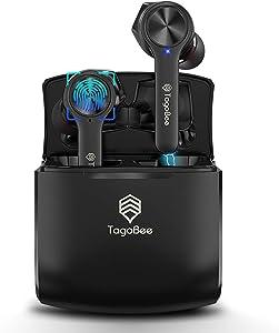 Tagobee True Wireless Earbuds,Bluetooth 5.0 Wireless Earphones IPX5 Waterproof TBT11 TWS Stereo Noise Cancelling Earbuds with Microphone Headphones Cordless Earbuds with Wireless Charging Case