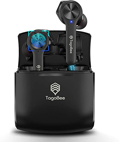 Tagobee True Wireless Earbuds,Bluetooth 5.0 Wireless Earphones IPX5 Waterproof TBT11 TWS Stereo Noise Cancelling Earbuds with Microphone Headphones Cordless Earbuds with Wireless Charging Case