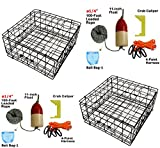2-Pack of KUFA Vinyl Coated Crab Tra & Accessory Kit (100' Lead CoreRope, Clipper,Harness,Bait Case & 11'' Red/White Float) (S60+CAQ1)x2K