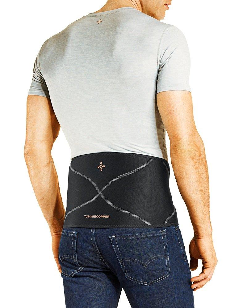 Tommie Copper Men's Back Brace, Large/X-Large, Black