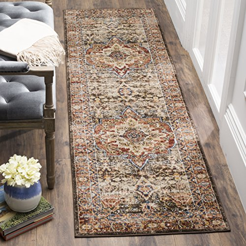 Safavieh Bijar Collection BIJ652D Brown and Rust Vintage Oriental Runner (2'3'' x 12') by Safavieh