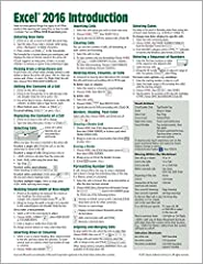 Laminated quick reference showing step-by-step instructions and shortcuts for how to use Microsoft Office Excel 2016 (Windows Version). Written with Beezix's trademark focus on clarity, accuracy, and the user's perspective, this guide will be...