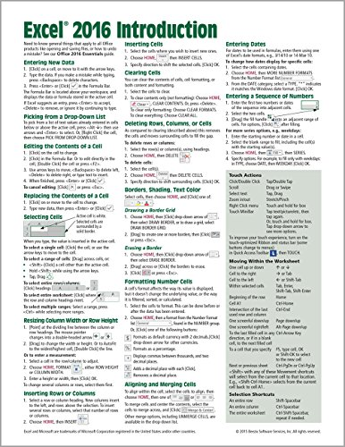 Microsoft Excel 2016 Introduction Quick Reference Guide...