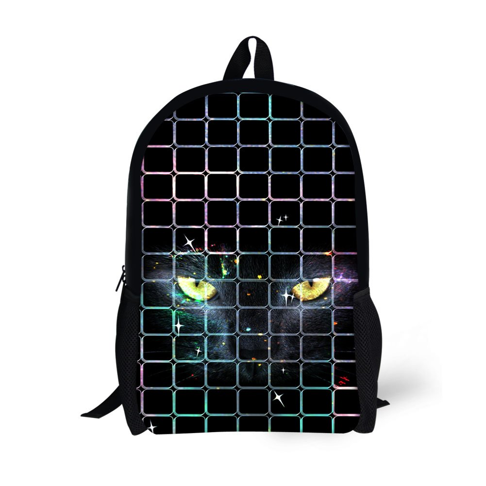 51116aa659b4 Amazon.com | Showudesigns Black Cat Grid Printing Junior Senior ...